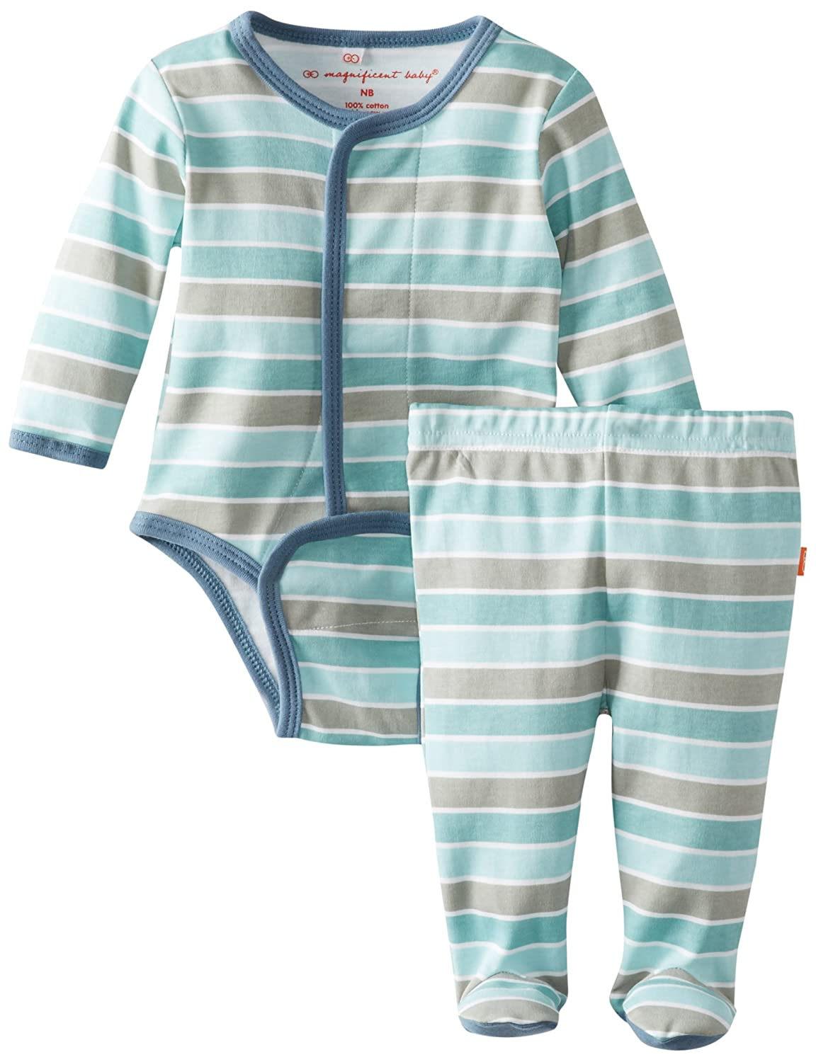 Magnificent Baby Baby-Boys Newborn Long-Sleeve Bodysuit and Pant Set