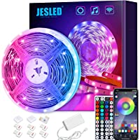 JESLED WiFi LED Strip Lights for Bedroom 5m, Compatible with Alexa and Google Home, Smart Led Strip Lights with 44 Keys…
