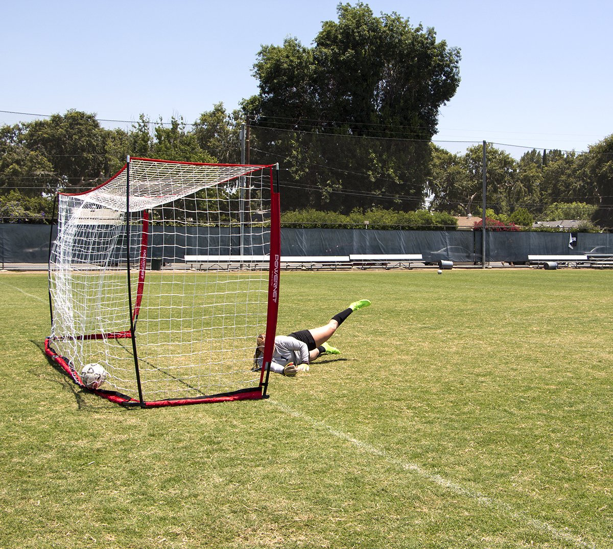 PowerNet Soccer Goal 12x6 Portable Bow Style Net by PowerNet (Image #4)