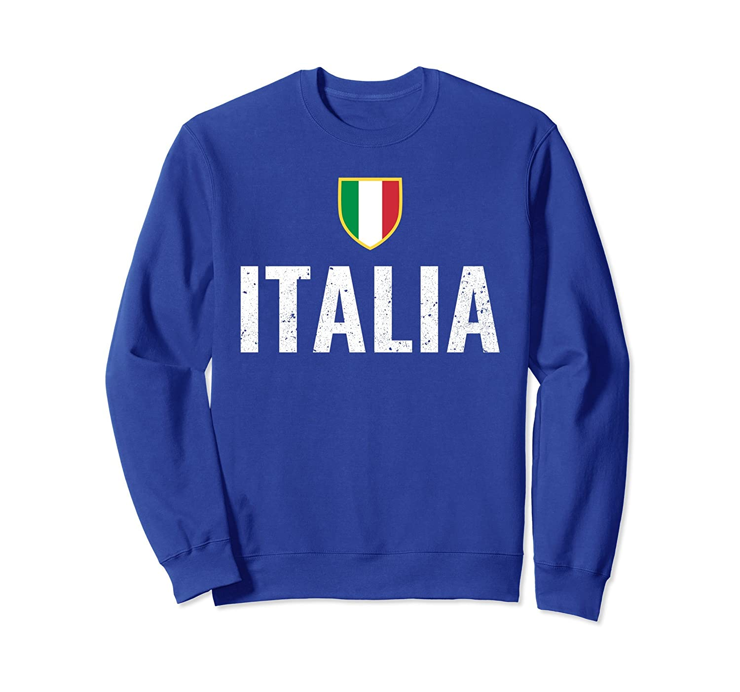 Italia Distressed Italian Flag Sweatshirt-mt