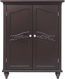 Elegant Home Fashion Vera 2 Door Floor Cabinet, Dark Espresso