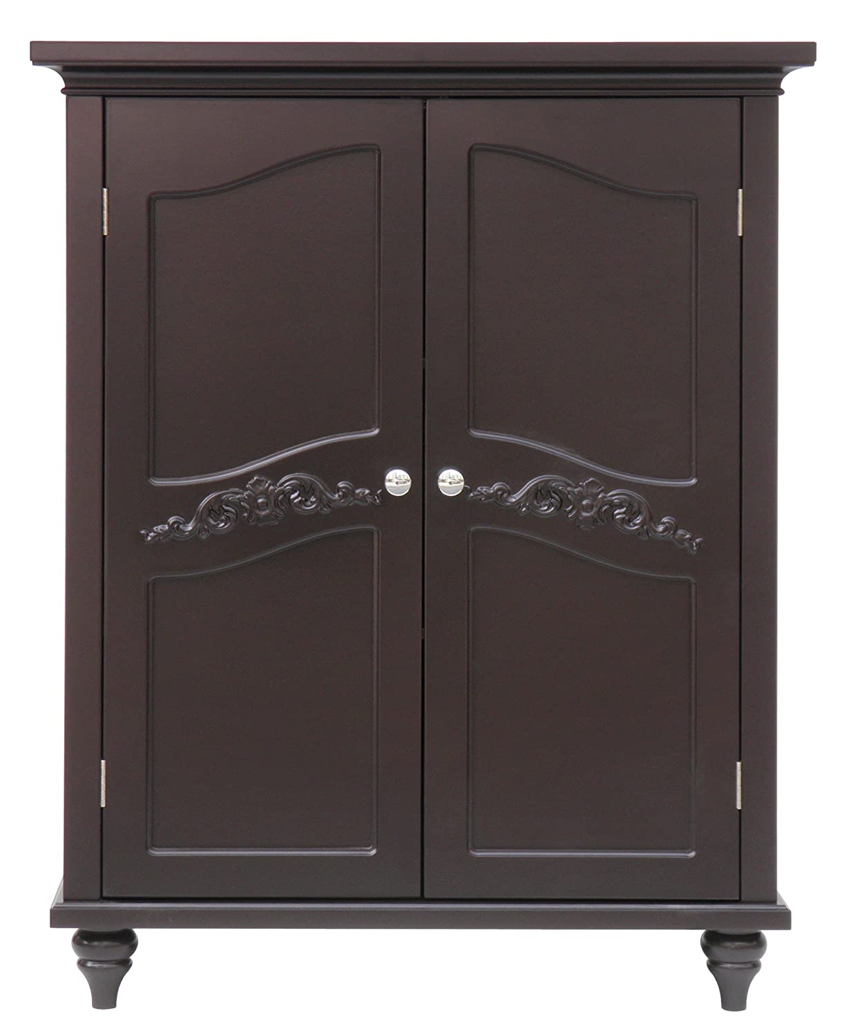 Amazon.com: Elegant Home Fashion Vera 2 Door Floor Cabinet, Dark Espresso:  Kitchen U0026 Dining