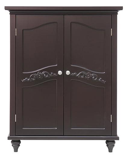 Amazon Elegant Home Fashion Vera 2 Door Floor Cabinet Dark