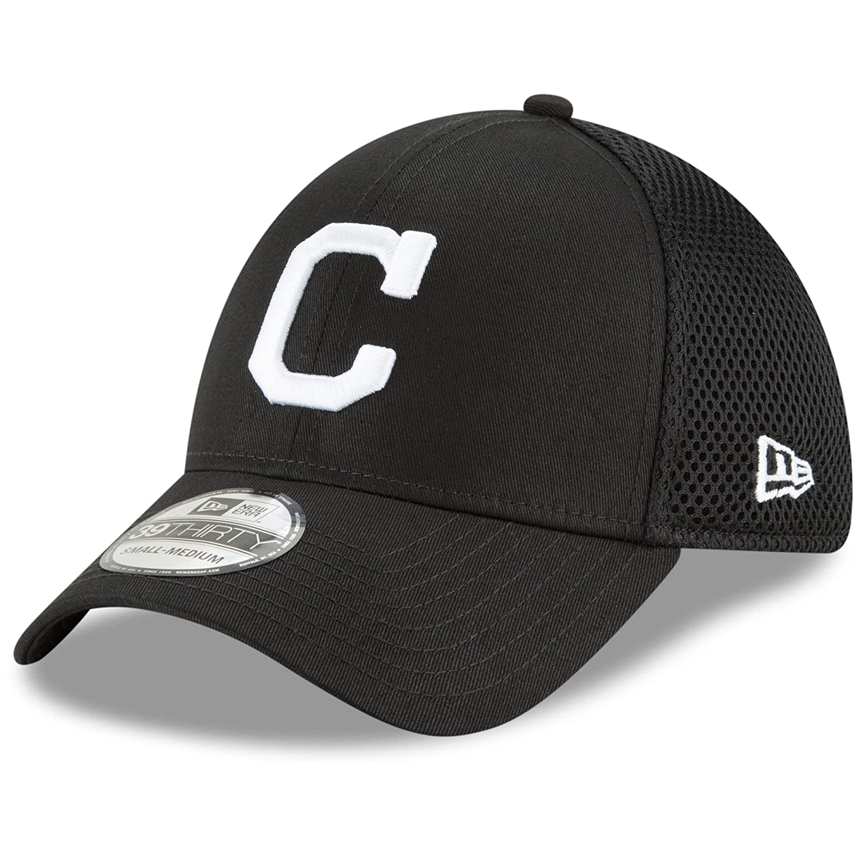 Amazon.com  New Era Authentic Cleveland Indians Black Neo 39THIRTY Flex Hat   Sports   Outdoors 1990f4ca09a