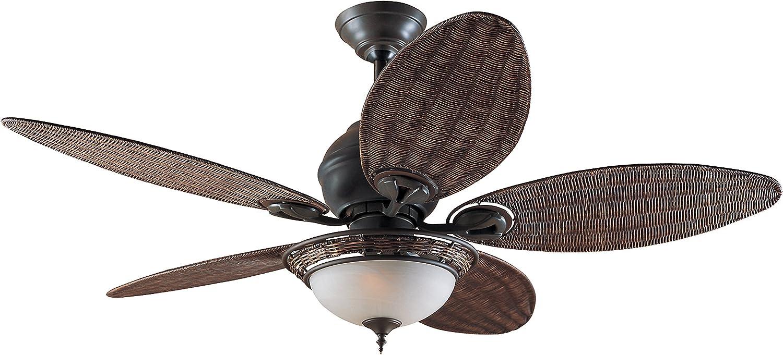 Hunter Fan 24457 Caribbean Breeze - Ventilador de techo con luz bronce curtido