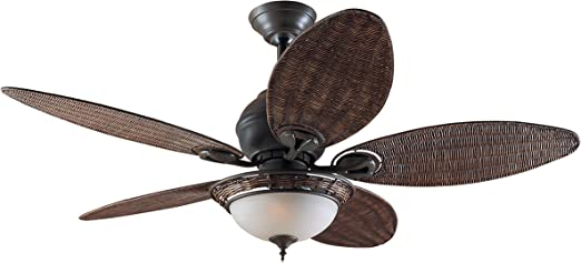 Hunter Fan 24457 Caribbean Breeze - Ventilador de techo con luz ...