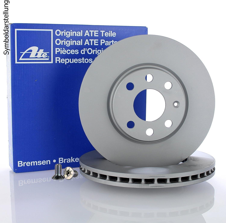 ATE Ceramic Bremsbel/äge Keramik Bremskl/ötze Bremsenset Bremsenkit Komplettset Hinterachse Original ATE Bremsscheiben hinten Bremsenreiniger