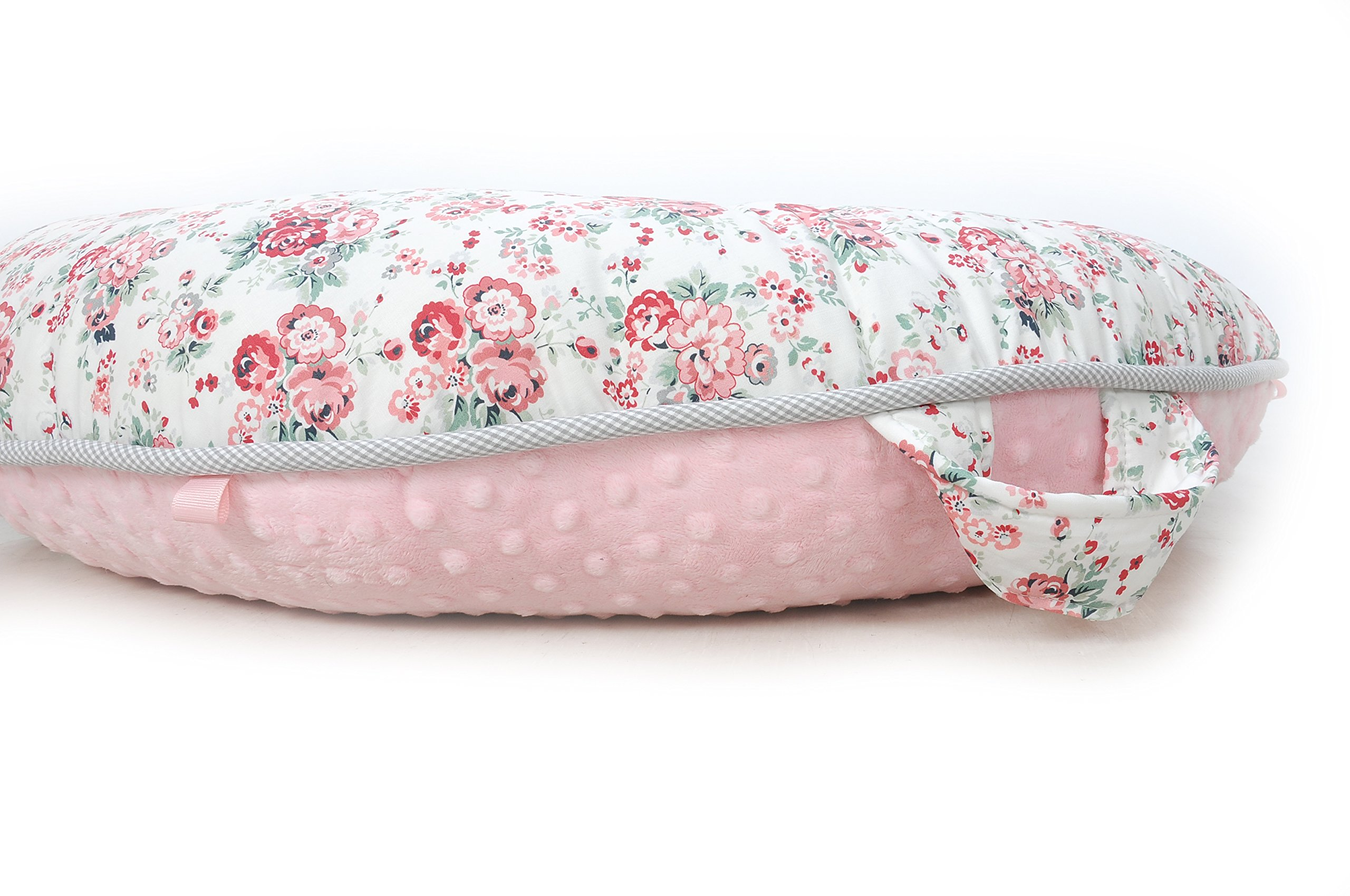 Pello Multi-use Luxe Baby-Toddler Floor Pillow/Play Mat/Lounger (Sarah/Light Pink) by pello (Image #3)