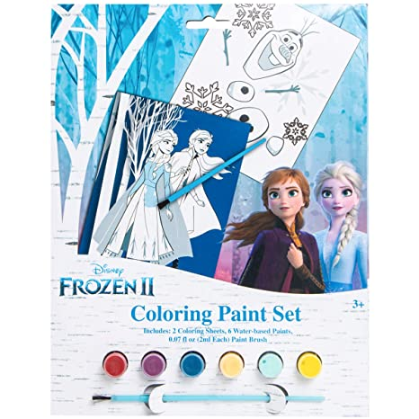 Frozen Disney 2 Coloring Paint Set With Elsa Anna And Olaf Amazon