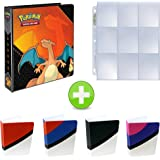 Pokemon 3-Ring Binder with Mini Binder Album Set of 4 Poke Ball Great Ball Ultra Ball and Master Ball + 25 9-Pocket Pages