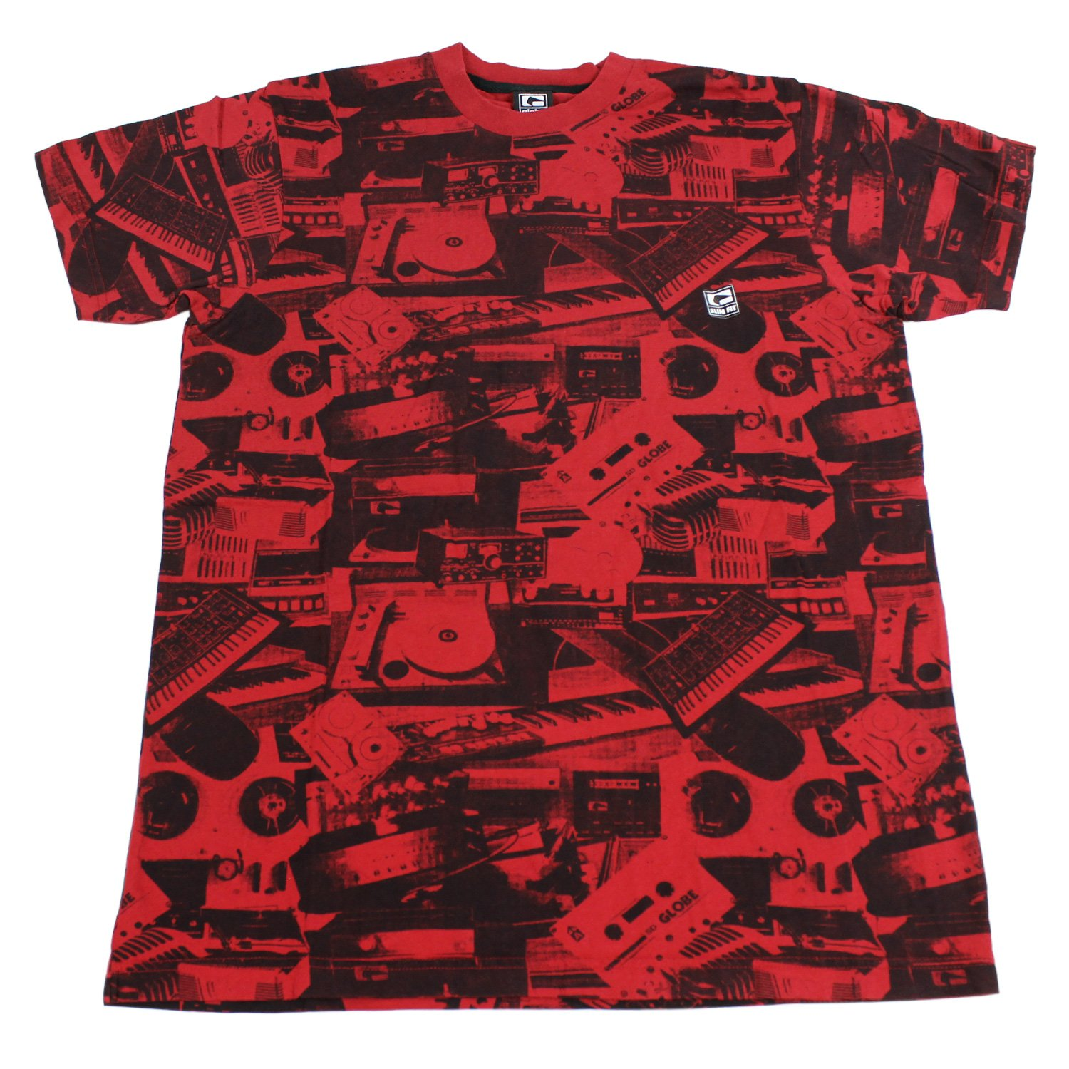 GLOBE Skate Shoes SHIRT SOUND SYSTEM CUSTOM RED Sz MED