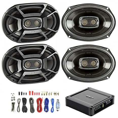 amazon com 4x polk 6x9 inch 450w 3 way car boat coaxial car audio crossover installation diagram car audio (speakers and subwoofers