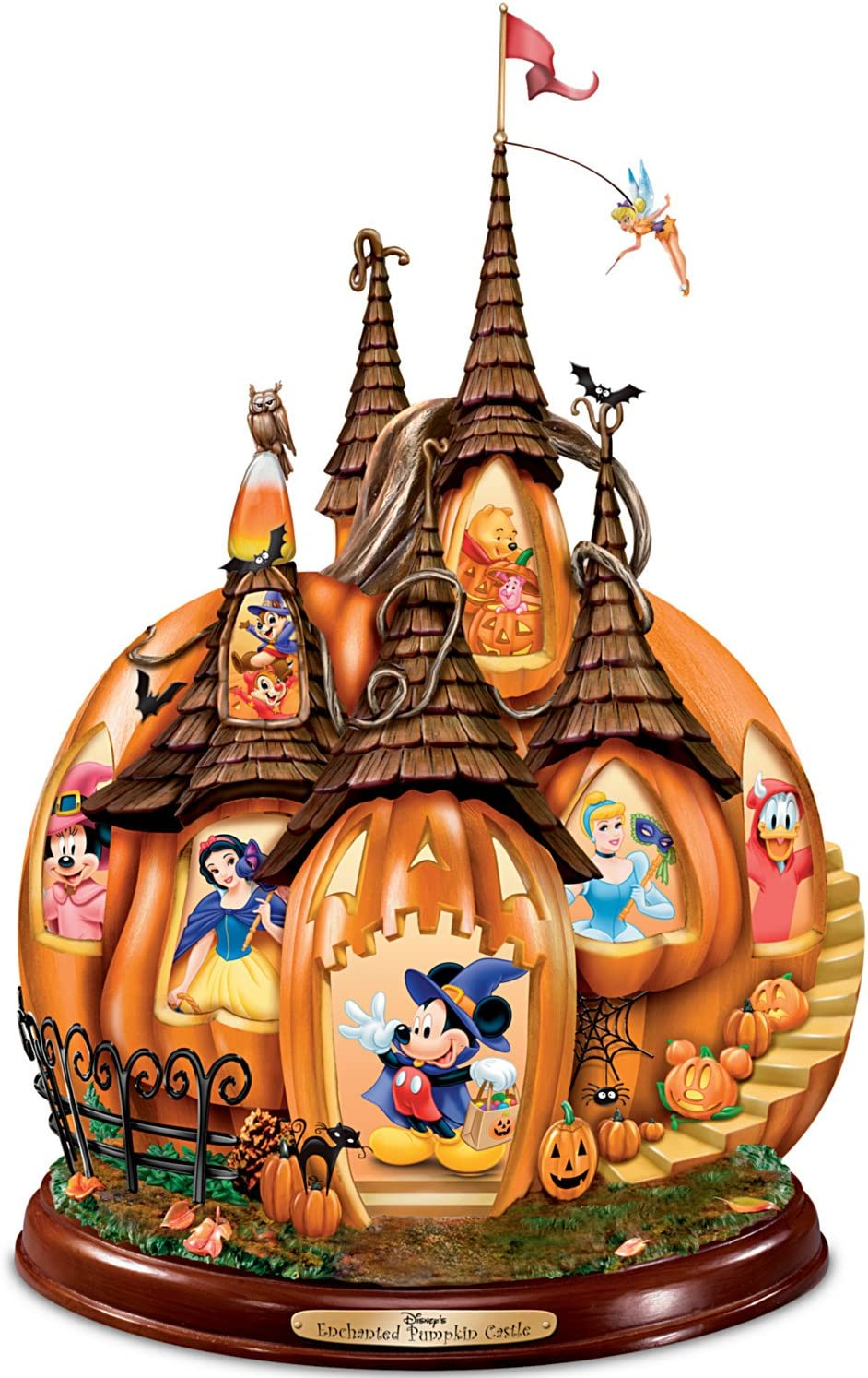 The Bradford Exchange Disney's Enchanted Pumpkin Castle Illuminated Halloween Sculpture