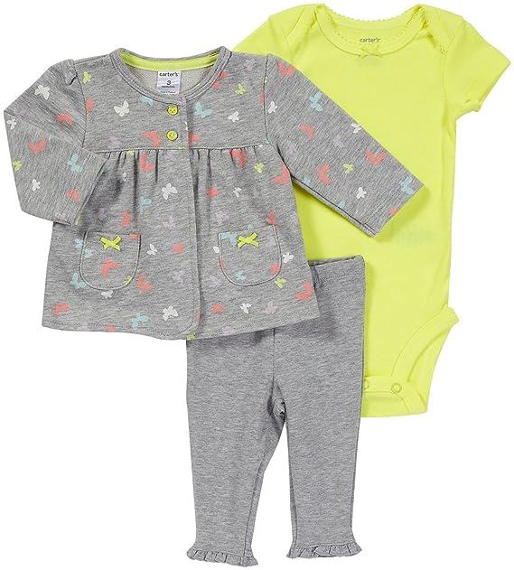 Amazon.com: Carter 3 piezas chaqueta de punto Legging Set ...