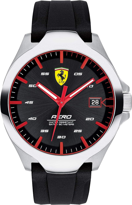Scuderia Ferrari Reloj Analógico para Hombre de Cuarzo con Correa en Silicona 830506