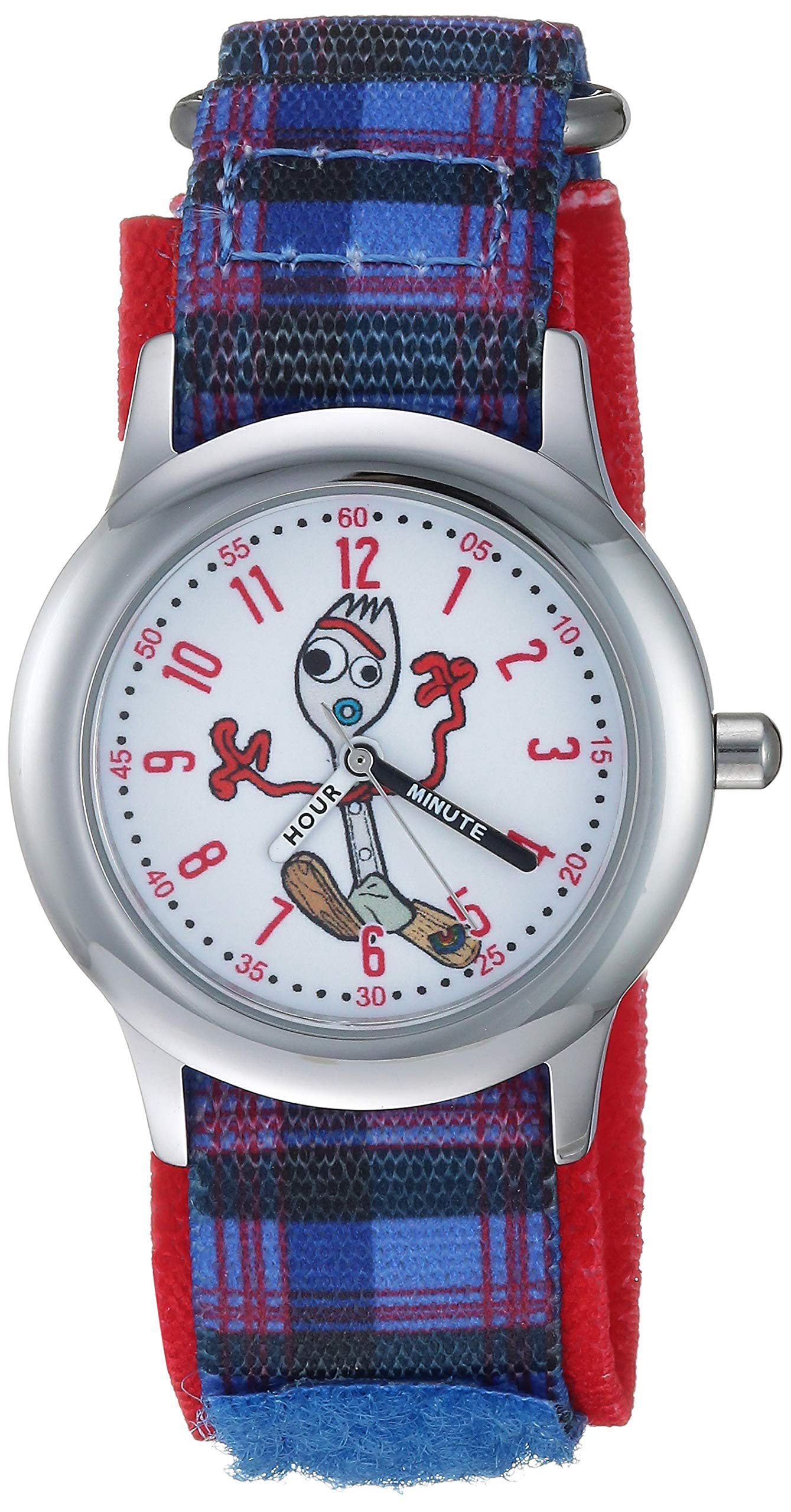 Disney Boys Toy Story 4 Stainless Steel Analog-Quartz Watch with Nylon Strap, Purple, 20 (Model: WDS000717) by Disney