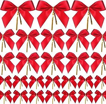 5 Fleur des noeuds en ruban rouge largeur 3 cm