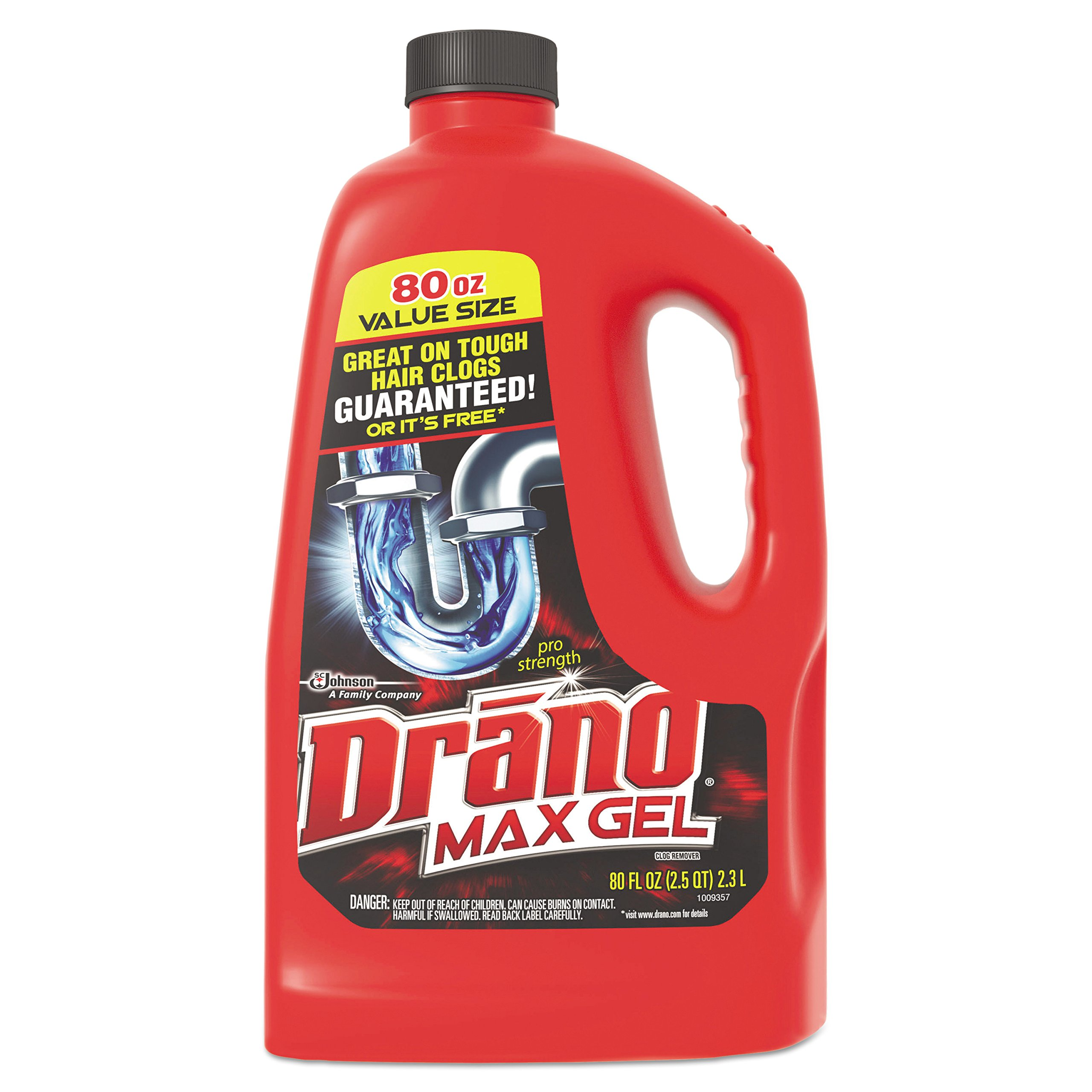 Drano DRK CB401099 Max Gel Clog Remover, 2.5 sq. ft. Bottle (Pack of 6) by Drano