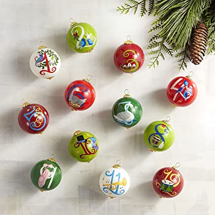 li bien 12 days of christmas ornament set
