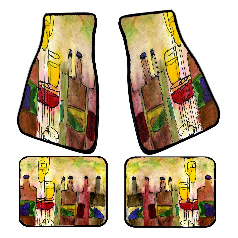 Tuscany Wine Art Auto Car Floor Mat Sets
