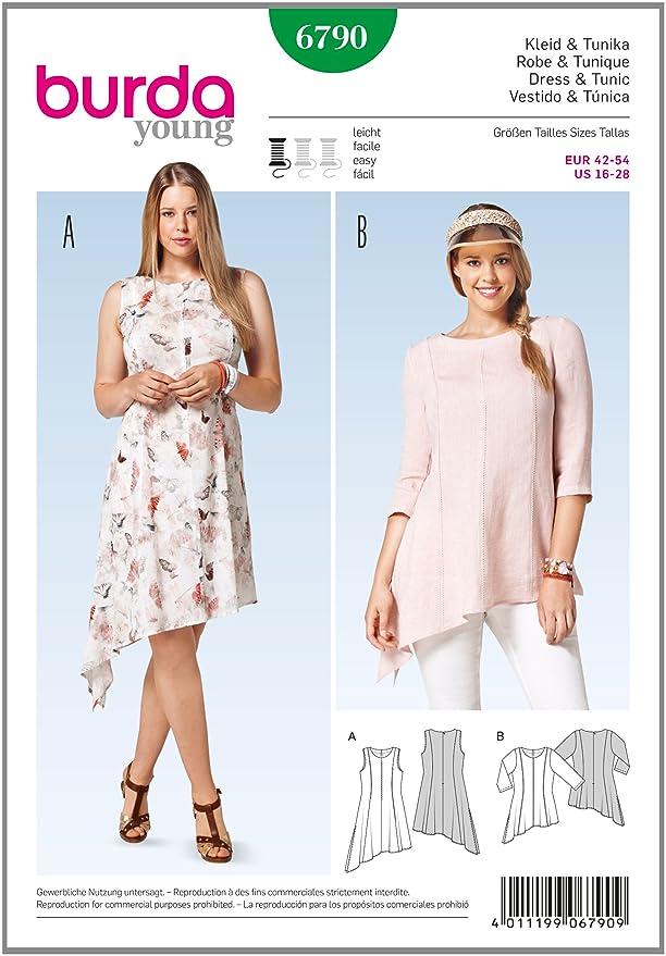 burda style Burda Schnittmuster für Kleid und Tunika 6790: Amazon.de ...