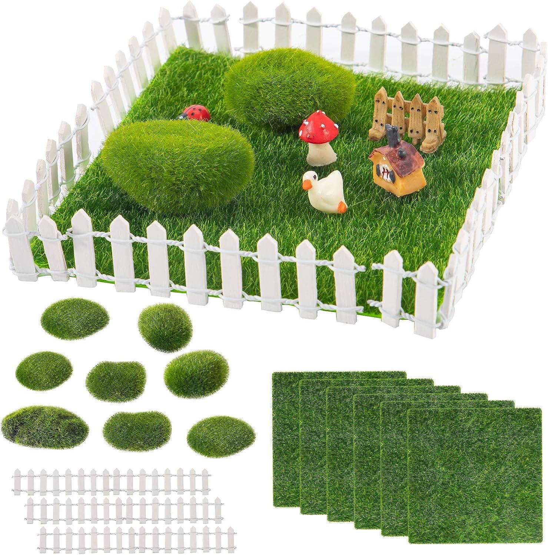24pcs Miniature Fairy Garden Ornaments- 6 Sheets 6