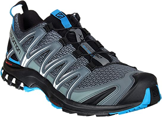 Salomon XA Pro 3D, Zapatillas de trail running para Hombre, Gris (Stormy Weather/Black/Hawaiian Surf), 46 EU: Amazon.es: Zapatos y complementos