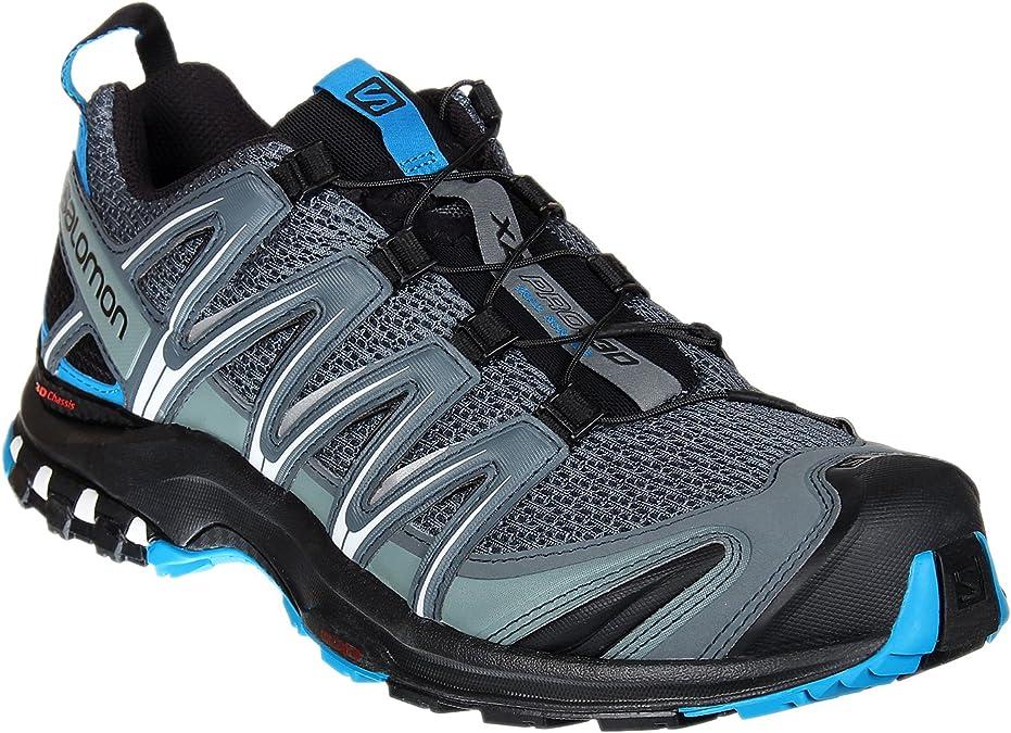 Salomon XA Pro 3D, Zapatillas de trail running para Hombre, Gris (Stormy Weather/Black/Hawaiian Surf), 46 EU: Amazon.es: Zapatos y complementos