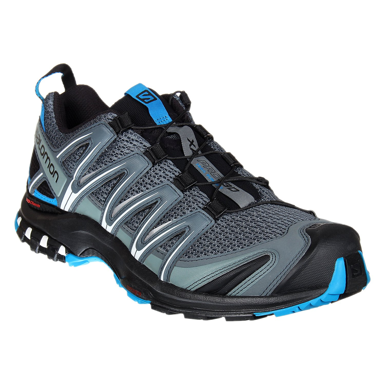 Salomon XA Pro 3D, Calzado de Trail Running para Hombre 44 2/3 EU Gris (Stormy Weather/Black/Hawaiian Surf)