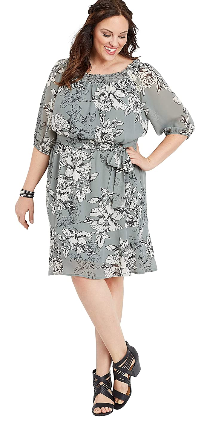 maurices Women\'s Plus Size Off The Shoulder Floral Tie Front ...