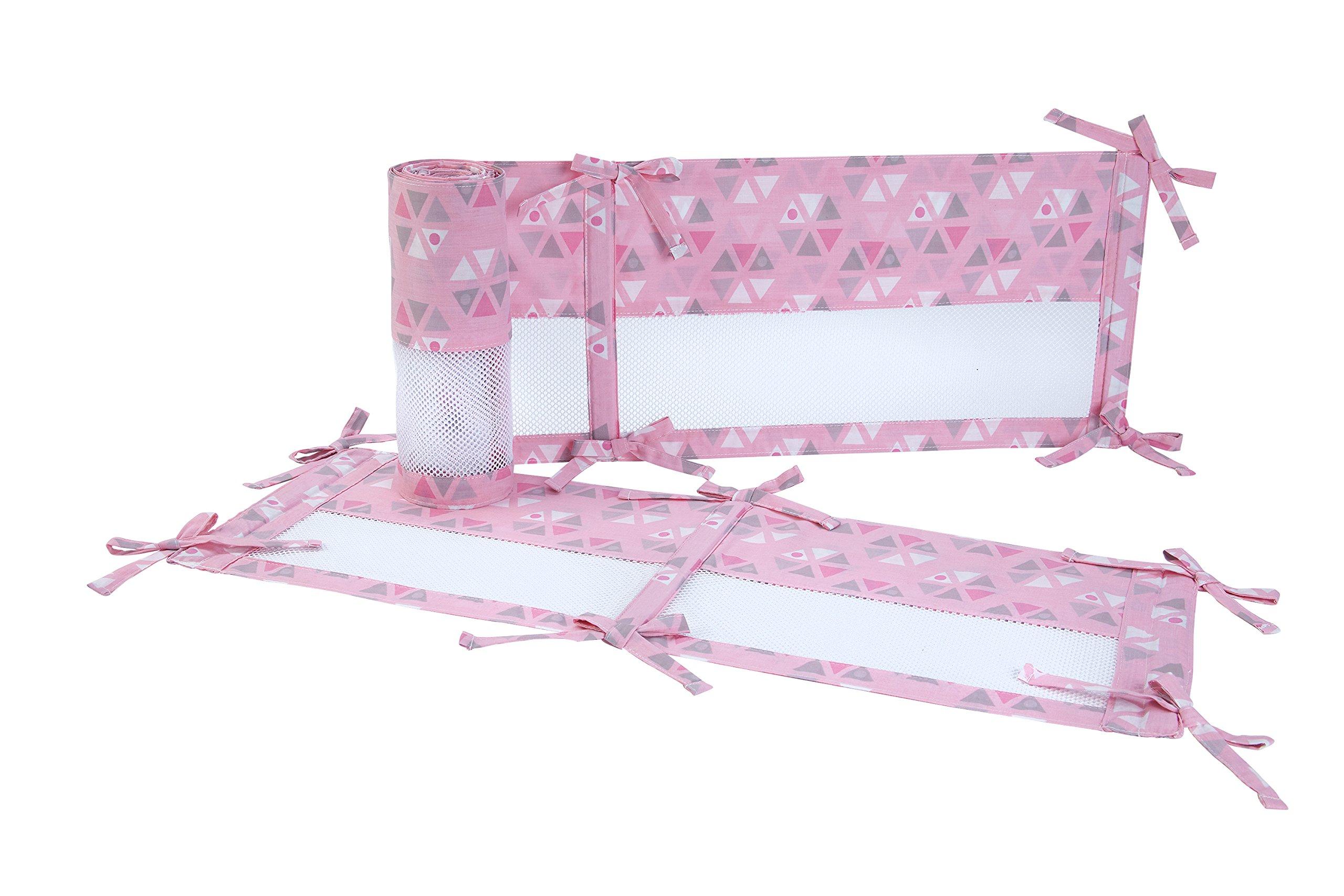Little Love by NoJo Giraffe Time Crib Liner, Pink