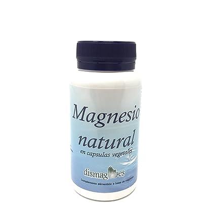 Magnesio natural en capsulas vegetales (producto vegano) Complemento alimenticio a base de minerales en