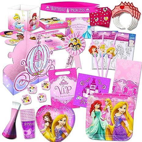 Amazon.com: Disney Princess Party Supplies Ultimate Set (150 Pieces ...