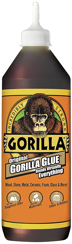 B00006LAAQ Gorilla Original Gorilla Glue, Waterproof Polyurethane Glue, 36 ounce Bottle, Brown 81QQCoq-KrL