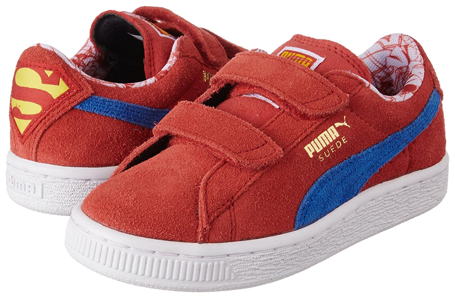 Puma SUPERMAN SUEDE V INF Wildleder Kinder Sneakers Schuhe Neu: Amazon.de:  Sport & Freizeit