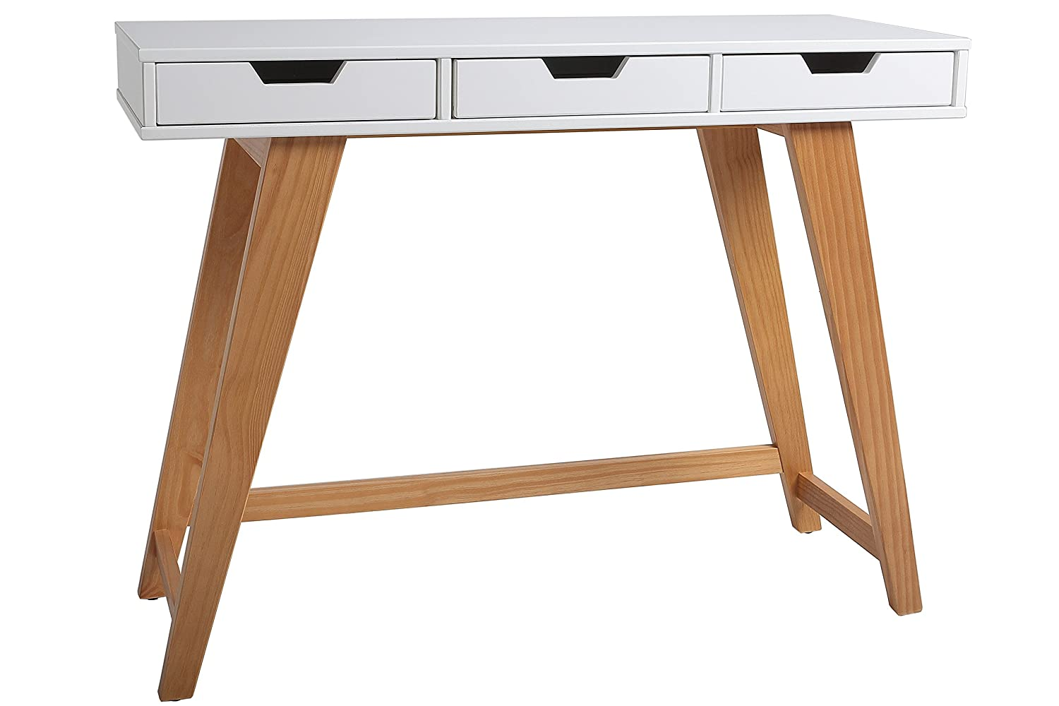 Mueble recibidor Color Blanco con Patas de Madera Maciza https://amzn.to/2En0ps3