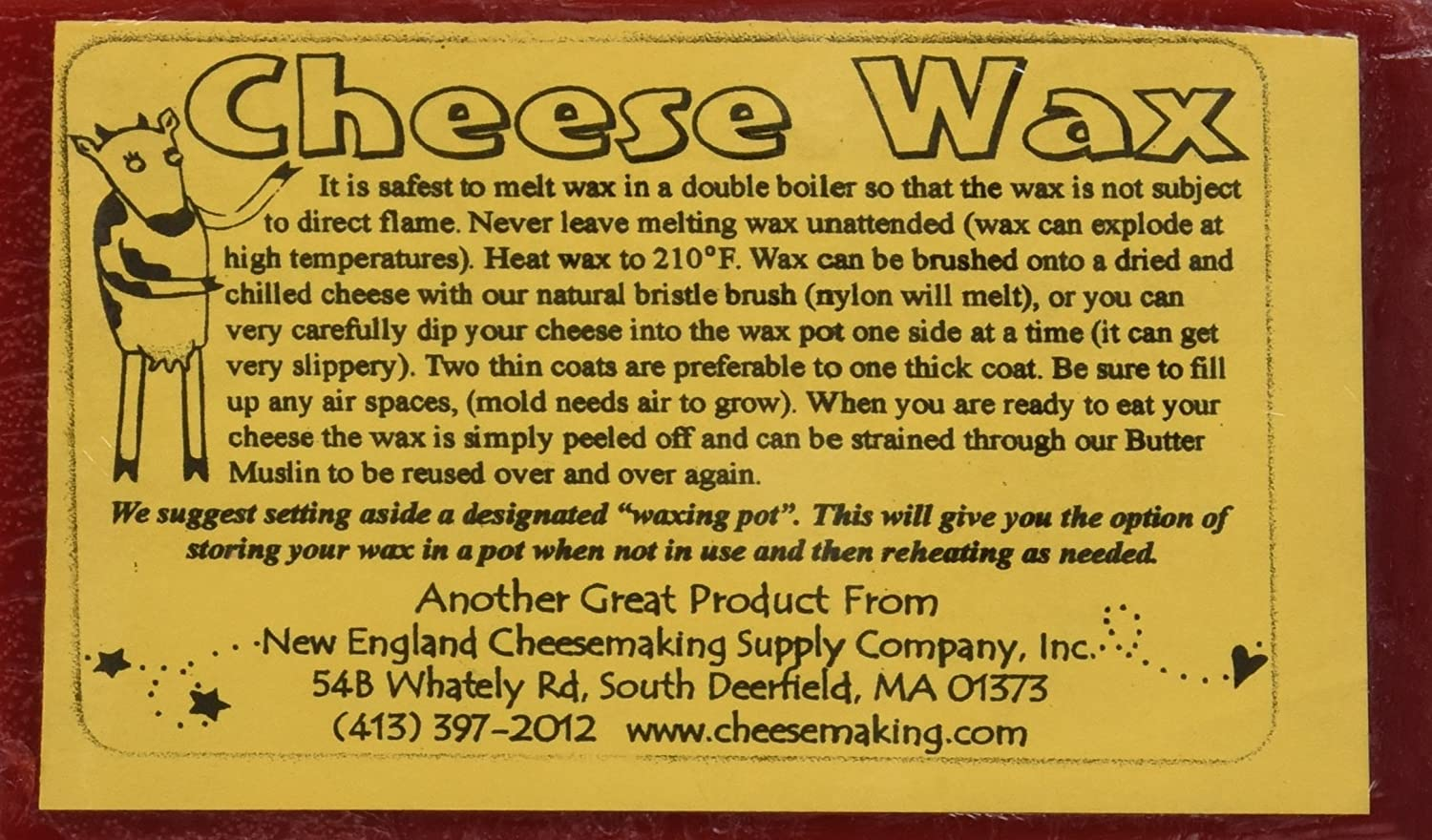 Cheese Wax 1 lb - Red