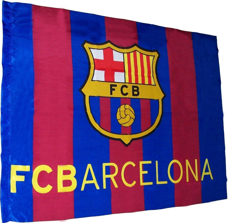FCB FC Barcelona - Bandera f.c. Barcelona (100 x 75 cm.) (Banderas): Amazon.es: Juguetes y juegos