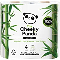 The Cheeky Panda | Natural Bamboo Toilet Tissue | 1 x 4 rolls