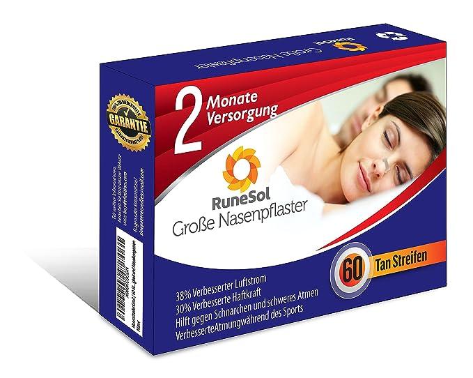 Tiras nasales / tiras nasales grandes (60 tioras) de RuneSol, para ...