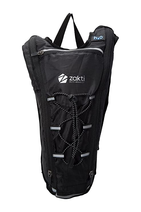 Mountain Warehouse Track 2L Hydro Bag - Breathable Hydration Pack Black