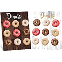 Donut Wall Party Decoration Doughnut Food Buffet Display Stand Dessert Table Pegboard Treats Holder Centerpieces Ideas…