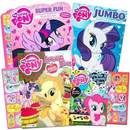 Amazon.com: My Little Pony Coloring Book Super Set with Stickers (4 ...