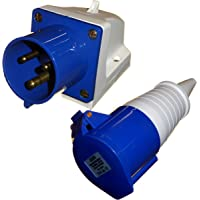 3 broches PowerMaster 856728 Adaptateur fiche CEE 16 A 240 V prise Schuko 16 A 240 V