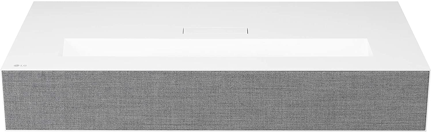 LG HU85LA Ultra Short Throw 4K UHD Laser Smart Home Theater CineBeam Projector with ThinQ AI and Google Assistant (Renewed)