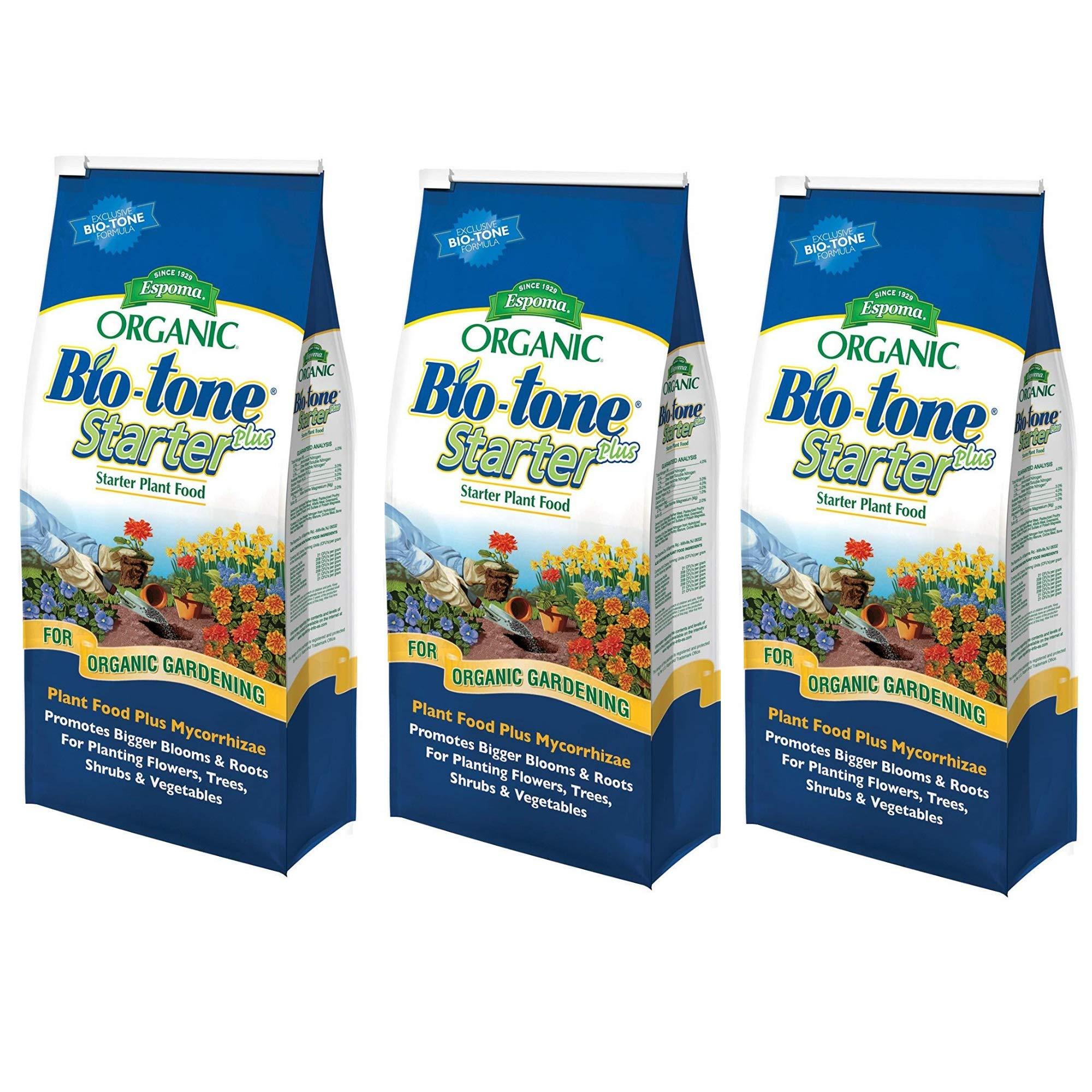 Espoma Organic Bio-Tone Starter Plus All Natural Plant Food - 4 lb Bag BTS4, 3 Pack by Espoma