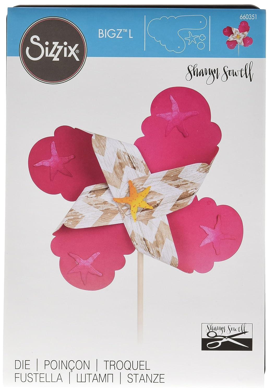 Sizzix Ellison Europe Bigz – – Bigz Troquel, diseño de flor, océano de manchas de pintura por Sharyn Sowell 13106a