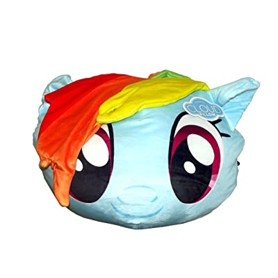 "Hasbro's My Little Pony, ""Rainbow Dash"" 3D Cloud Pillow, 14"" Round, Multi Color: Home & Kitchen"