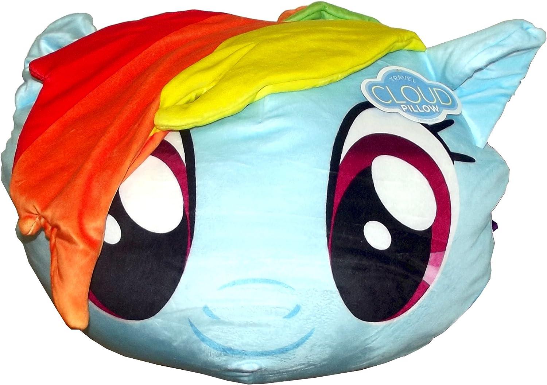 "Hasbro's My Little Pony, ""Rainbow Dash"" 3D Cloud Pillow, 14"" Round, Multi Color"