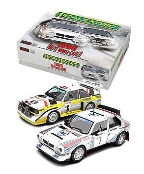 Scalextric a escala 1:32 Slot Rally de Monte Carlo Lancia Delta S4 Vs Audi Quattro de edición limitada de coches Twin Pack: Amazon.es: Juguetes y juegos